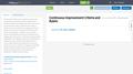 Continuous Improvement Criteria and Rubric