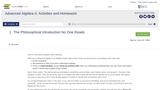Advanced Algebra II: Activities and Homework