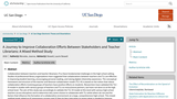 A Journey to Improve Collaboration Efforts Between Stakeholders and Teacher Librarians