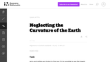 Neglecting the Curvature of the Earth