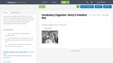 Vocabulary Organizer- Henry's Freedom Box