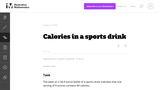 Calories in a sports drink