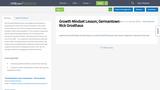 Growth Mindset Lesson; Germantown - Rick Grosthaus