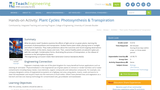Plant Cycles: Photosynthesis & Transpiration