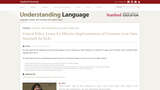 Critical Policy Levers for Effective Implementation of Common Core State Standards for ELLs