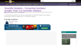 Scientific Notation - Converting Numbers Smaller Than 1 to Scientific Notation