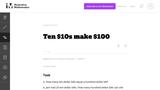 Ten $10s Make $100