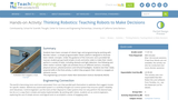 Thinking Robotics: Teaching Robots to Make Decisions