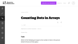 Counting Dots in Arrays