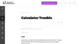 Calculator Trouble