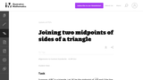Joining Two Midpoints of Sides of a Triangle