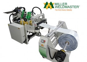 Back right-side of poly-woven bag sealing machine