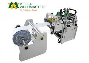 None Left front-side of Miller Weldmaster's bag sealing machine