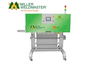 Back-side of Miller Weldmaster's top closing bag system