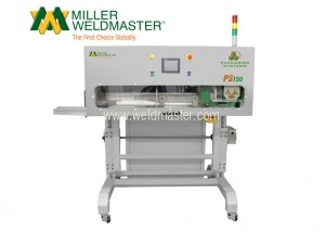 Front-side of Miller Weldmaster's automated top-fold bag closer system