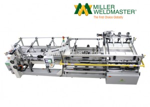 Top of the front-side of Miller Weldmaster's bottom sealing machine