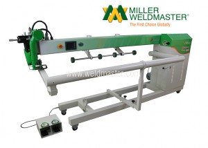 Hot air seam welder machine from right side