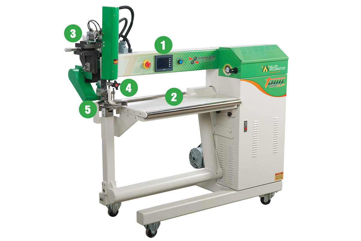 T300 Flex Edge Hot Air Welder Features