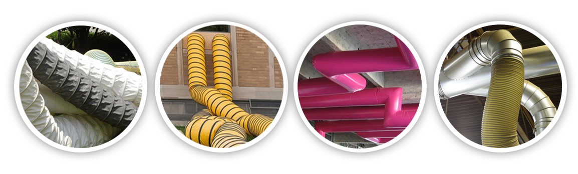 Ducting, ventilation tubes, reinforced ducting applications