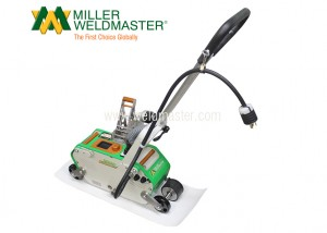 PVC membrane welder from left back