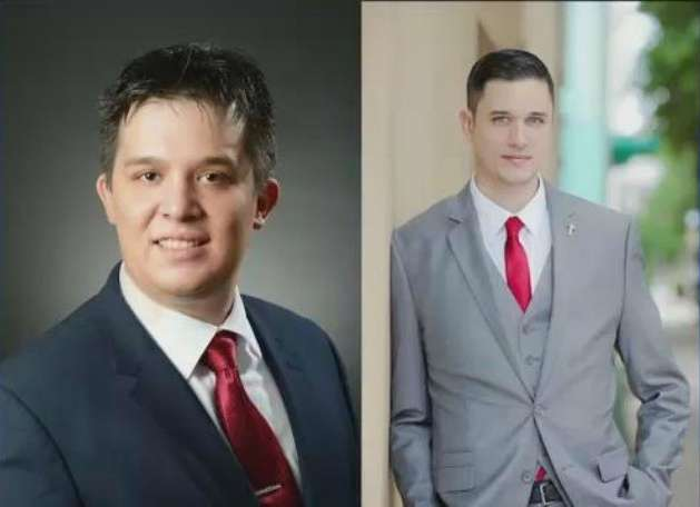Libertarian candidates for U.S. Senate, Paul Stanton and Augustus Invictus.