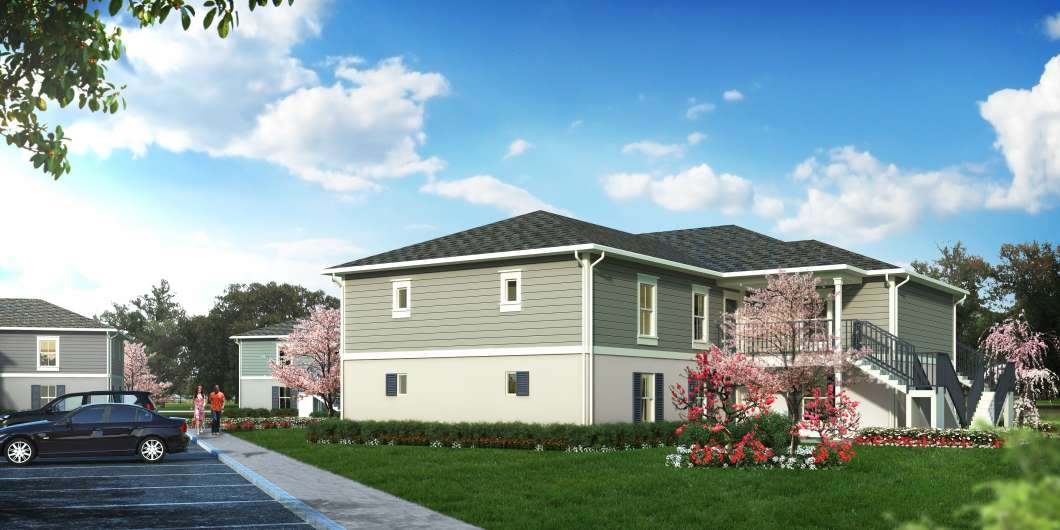 The non profit Ability Housing is renovating affordable housing units at the Wayne Densch Center in Eatonville. Image:  Ability Housing