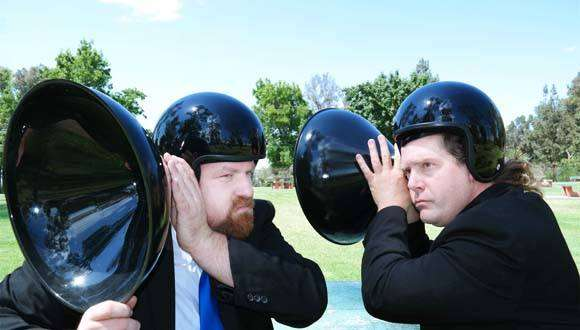 Image: Performance Artists Brian Black and Ryan Bulis, Art in Odd Places FB page.