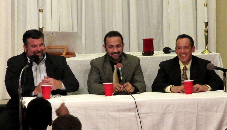 "The ""Three Wise Guys"" of ""Friends Talking Faith"". Photo: Facebook"