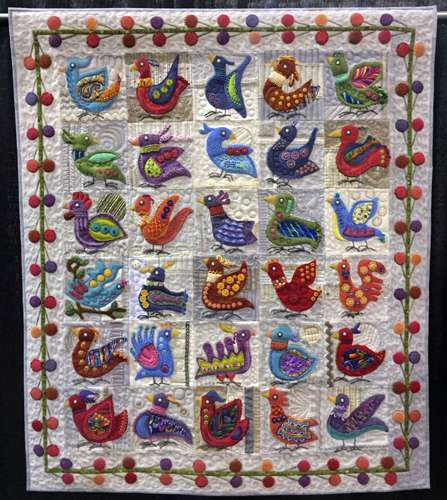 Image: Previous Quilt Show, Whacky Traveling Birds by Barbara Khan, quiltfest.com