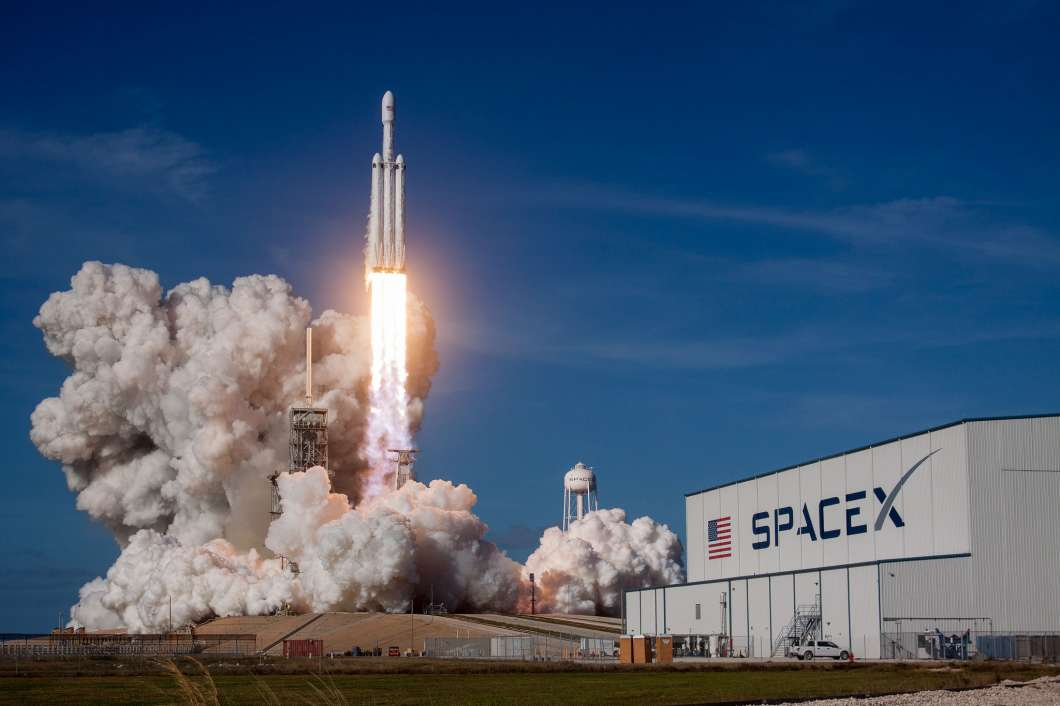 Falcon Heavy launches for the first time from Kennedy Space Center. Photo: SpaceX