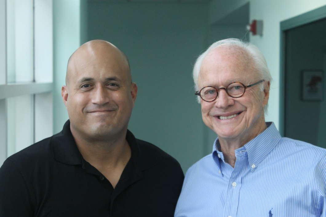 Frank Torres (l) and Dick Batchelor. Photo: Matthew Peddie, WMFE