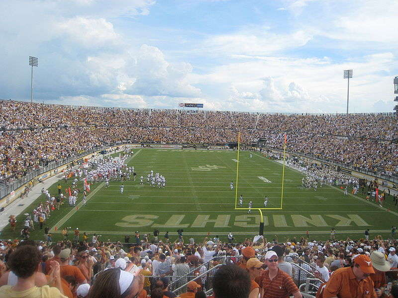 View from the endzone, BrightHouse Networks stadium. Photo: birwin01 via Wikimedia Commons