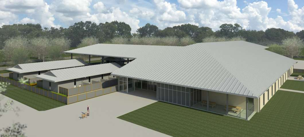 A rendering of the new Lake County Animal Shelter. via Lake County County Commissioners