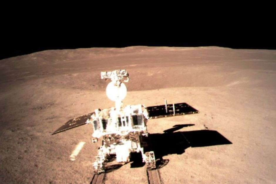One of the first images from  China's spacecraft on the far side of the moon. CNSA/CLEP