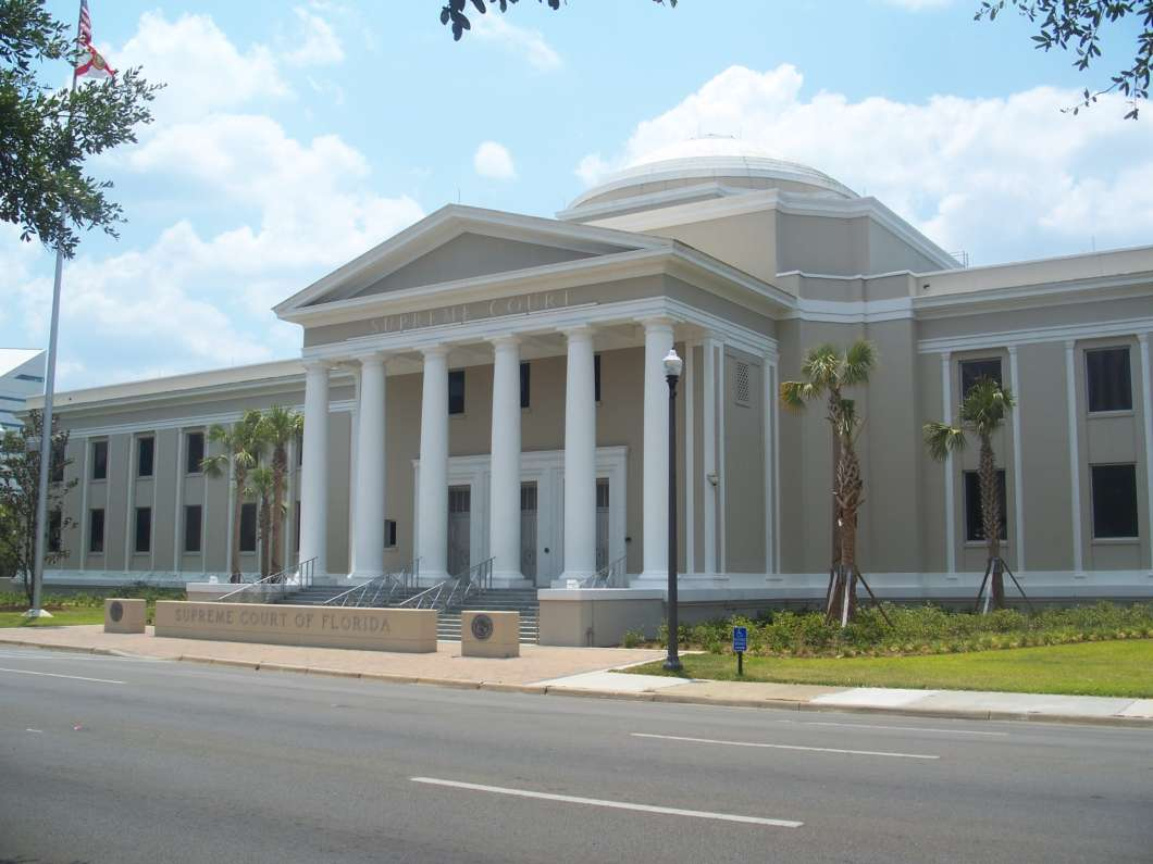 Florida Supreme Court Building in Tallahassee via Ebyabe/Wikimedia Commons