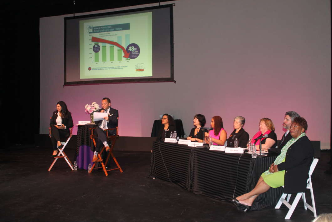 Arts funding town hall at the Orlando Rep Theatre