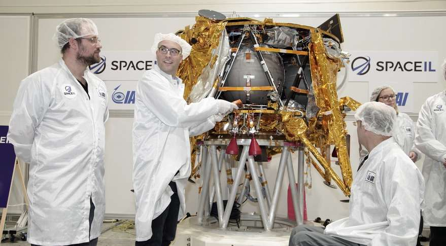 """SpaceIL's """"Beresheet"""" lander ahead of its mission to the moon. Photo: SpaceIL"""