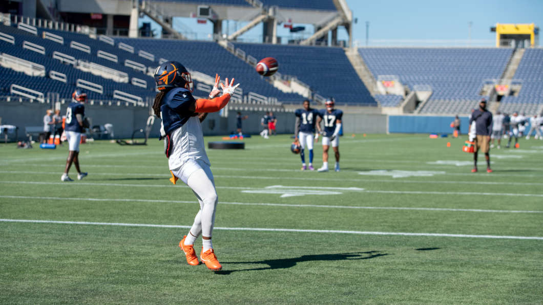 The Orlando Apollos practice in February 2019. Photo from AAF.com