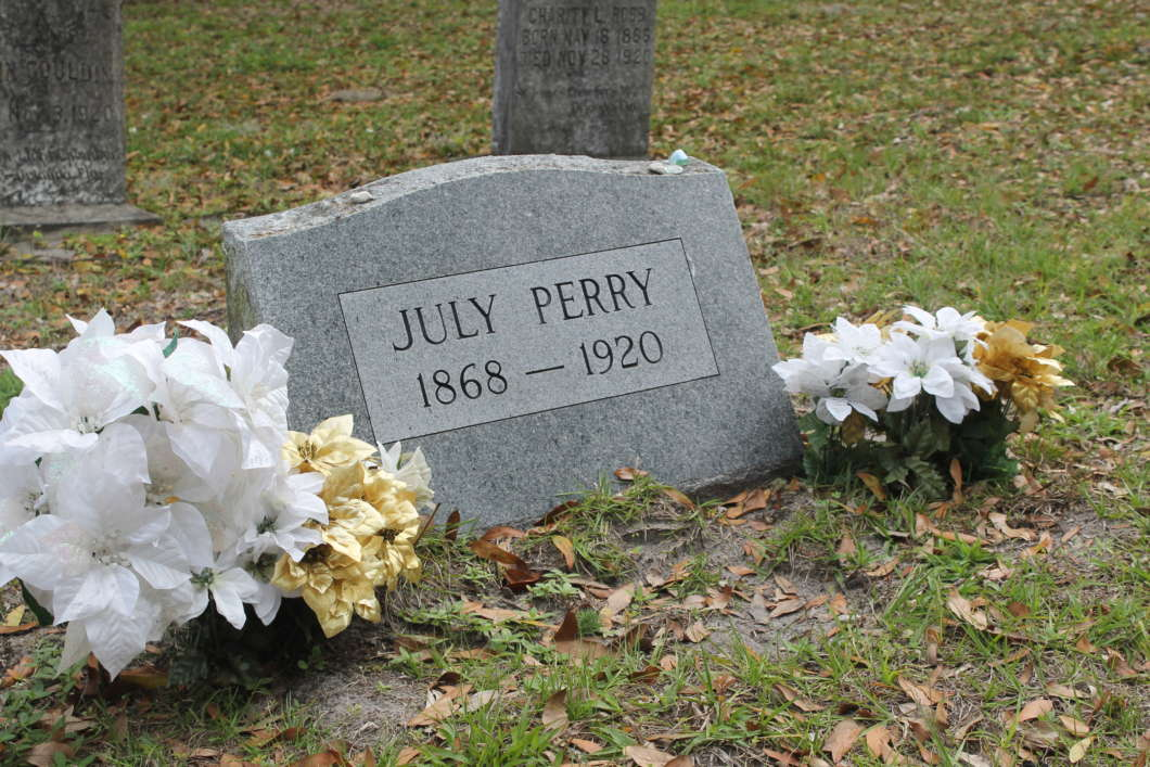 Headstone For July Perry At Greenwood Cemetery Riches: Talia Blake
