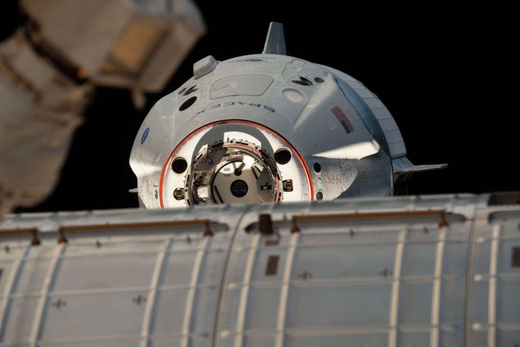 SpaceX's Crew Dragon arrives at the International Space Station.