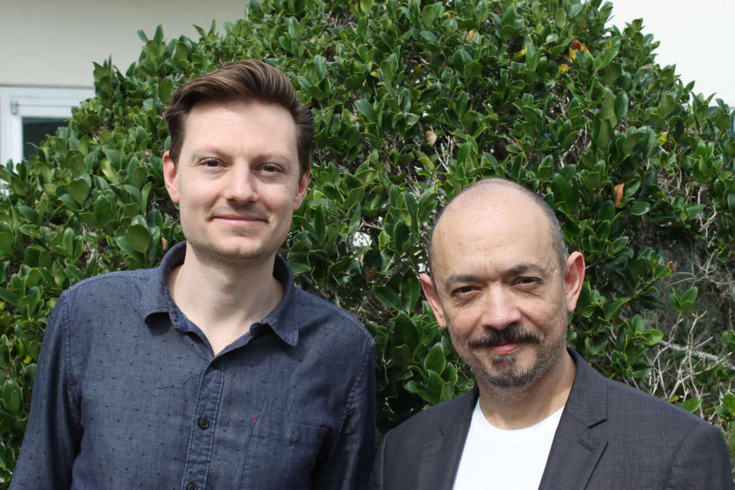Clinton Smith (l) and Octavio Cardenas. Photo: Matthew Peddie, WMFE