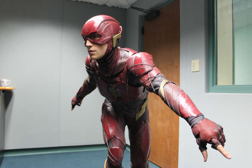 The Flash is the latest addition to Madame Tussaud's lineup in Orlando. Photo: Matthew Peddie, WMFE