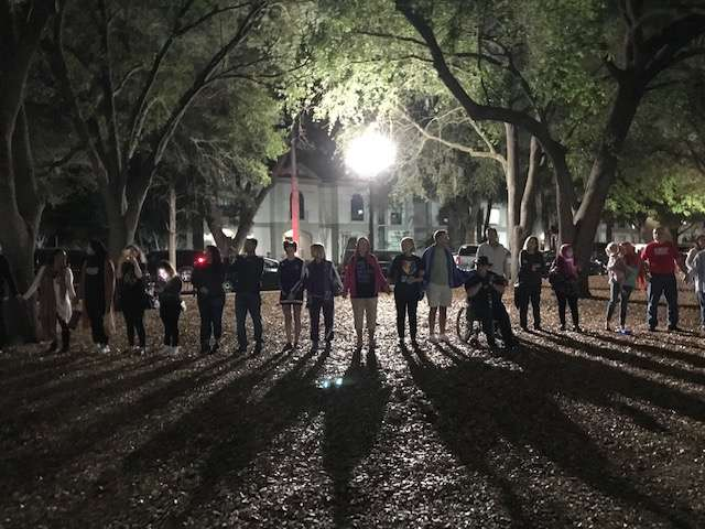 A vigil near Lake Eola in Orlando last weekend to remember victims of the Christchurch mosque shootings. Photo: Danielle Prieur, WMFE