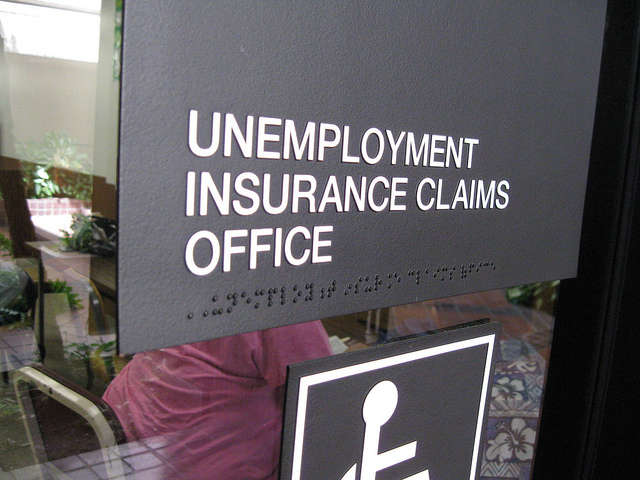 Generic Unemployment Office Sign. via Bytemarks/Flickr