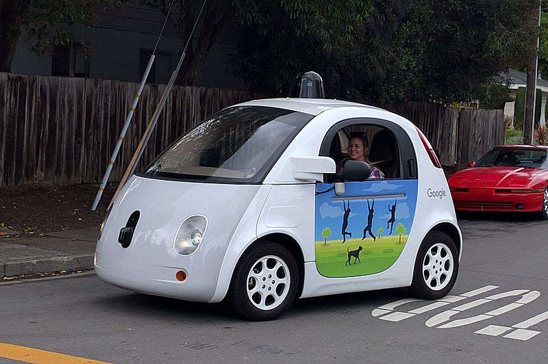 Image: A Google autonomous vehicle in 2016. Photo courtesy of Wikimedia Commons