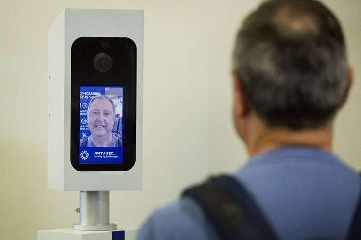Image: facial recognition kiosk, npr.org