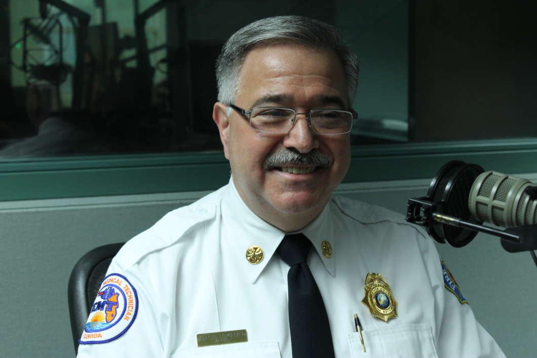 Orange County Fire Chief Jim Fitzgerald. Photo: Matthew Peddie, WMFE.
