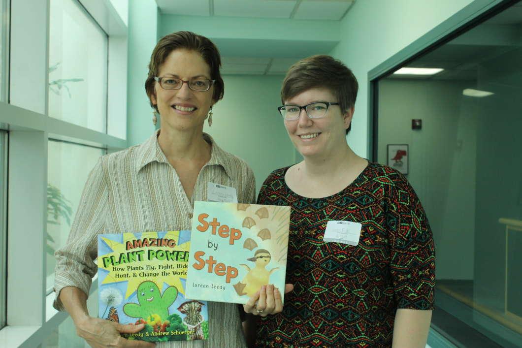 Loreen Leedy (l) and Sarah Fisk. Photo: Matthew Peddie, WMFE
