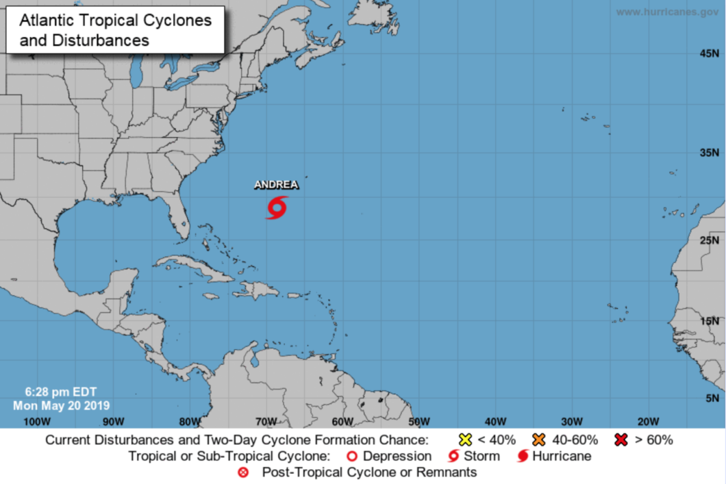 Meteorologists warn the storm could strengthen overnight Monday. Photo: National Hurricane Center Twitter
