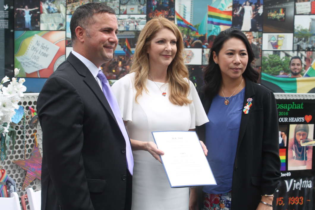 Central Florida Officials unveiled new bill to recognize Pulse as a national memorial. Photo by Matthew Peddie